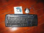 Wireless Keyboard,  Black keys and silver shortcut buttons
