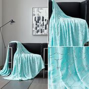 Modern Metallic Cube and star Sofa blanket for sale