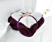 Warm soft & fluffy Sherpa sofa & bed blankets for sale